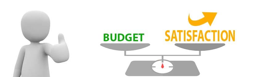 Compromis entre le budget et la gamme du siège