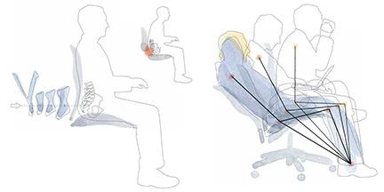 Bien s'asseoir - Adopter la bonne position sur votre siège de bureau