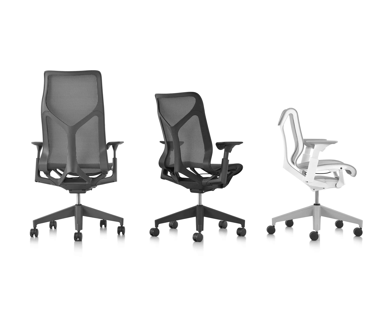 Trois déclinaisons du fauteuil de bureau Cosm par Herman Miller