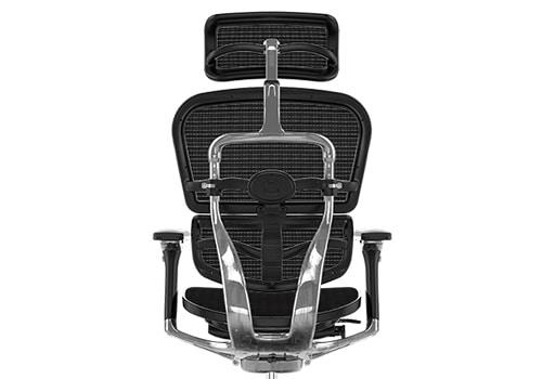 Structure en aluminium poli du fauteuil Ergohuman Luxury