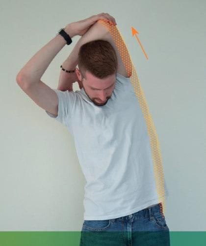 Mal de dos - Étirement latéral du tronc et du bras.