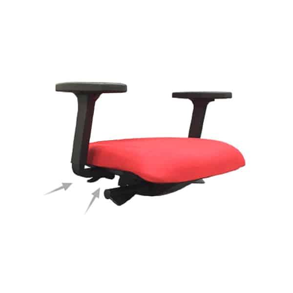 Visser les accoudoirs dans l'assise de votre fauteuil de bureau.